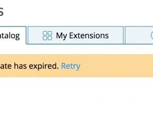 Peer's certificate has expired